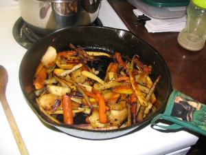 legumes caramelises