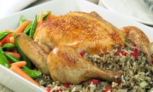 poulet farci riz